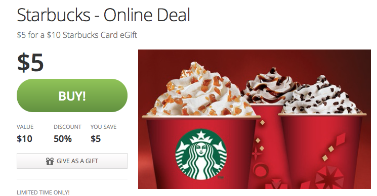 starbucks groupon deal