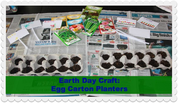 earth day craft egg carton planters