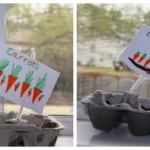 earth day crafts egg carton planters planted
