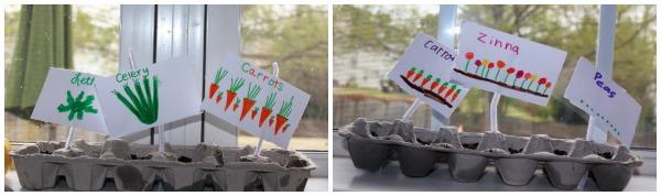 Earth Day Craft: Egg Carton Planters Tutorial