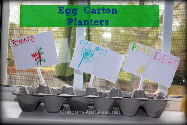 egg carton planters crafts for kids