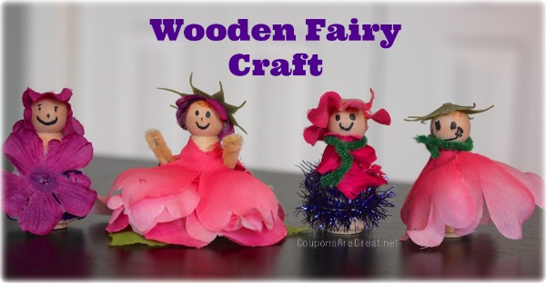 This wooden fairy craft is perfect for a Saturday afternoon, a birthday party, or just because!