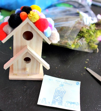 making fairy houses with plan