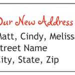 our new address labels
