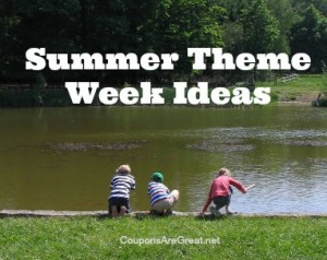 If you are looking for inspiration, these summer theme week ideas will keep summer fresh with different ideas every week.