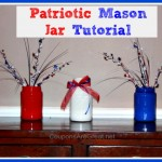 Craft Idea: Patriotic Mason Jars Tutorial