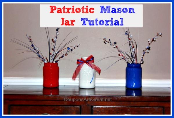 patriotic mason jar tutorial