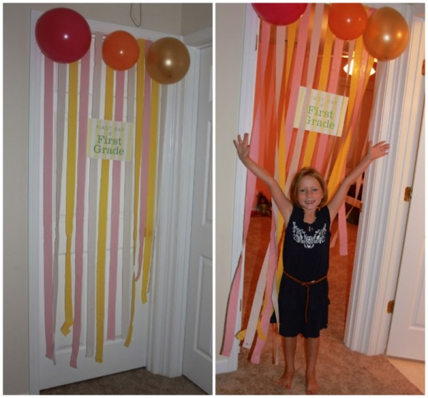 first day of first grade streamers