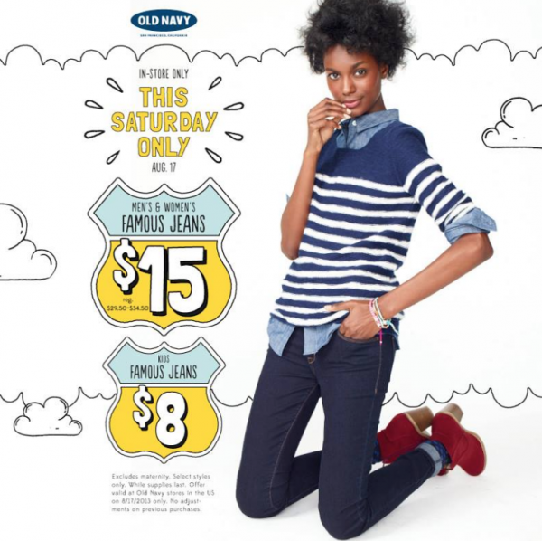 412e5443136 Old Navy Jeans Sale  Kids Jeans  8   Adult Jeans  15 at Old Navy