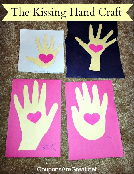 The Kissing Hand Back to School Craft #Back2School