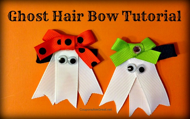 Ghost Hair Bow Tutorial