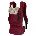 red cotton baby carrier