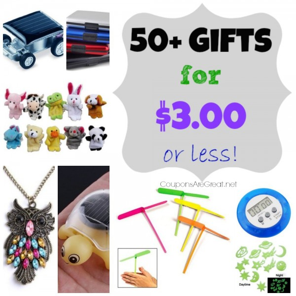50 gifts for $3 or less