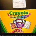Money Saving App: How I saved $5 at Office Depot on my Crayola Purchase using Wrapp