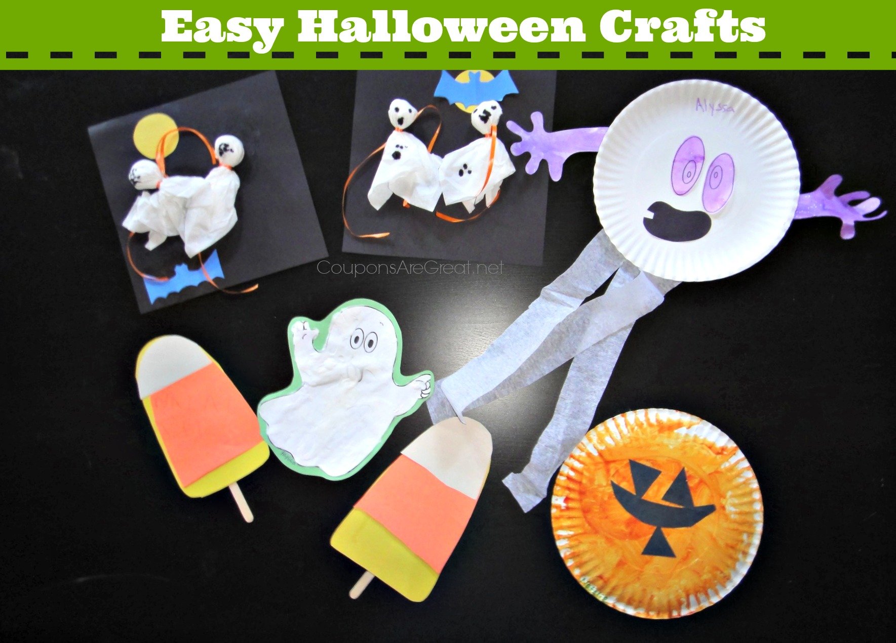 Easy Halloween Crafts Using Construction Paper