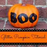 glitter pumpkin tutorial