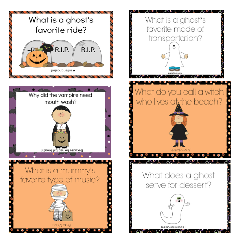 Printable Halloween Lunchbox Notes Using Halloween Jokes