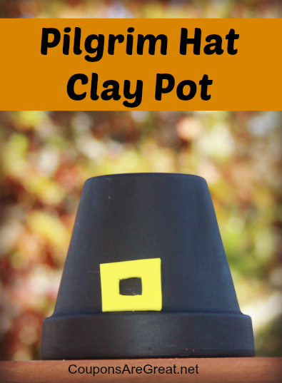 Thanksgiving-craft-pilgrim-hat-clay-pot