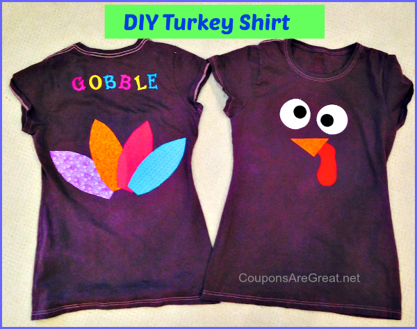 If you need a turkey shirt for Thanksgiving and you are a DIY type of person, look no further!