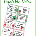 elf on the shelf printable notes freebie