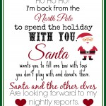 Print this Elf Returns Letter With Instructions to Donate Toys