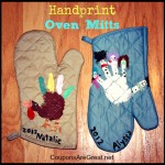 Gift Idea: Handprint Art with Oven Mitts