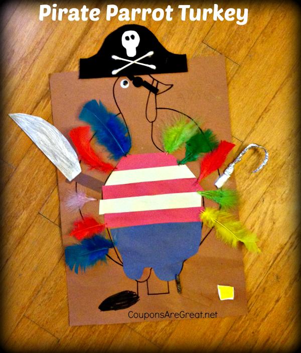 kindergarten homework turkey disguise pirate turkey