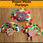 Thanksgiving Craft: Paper Plate Turkeys Using Tissue Paper