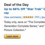 star trek amazon gold box deal