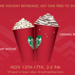 starbucks holiday promo bogo