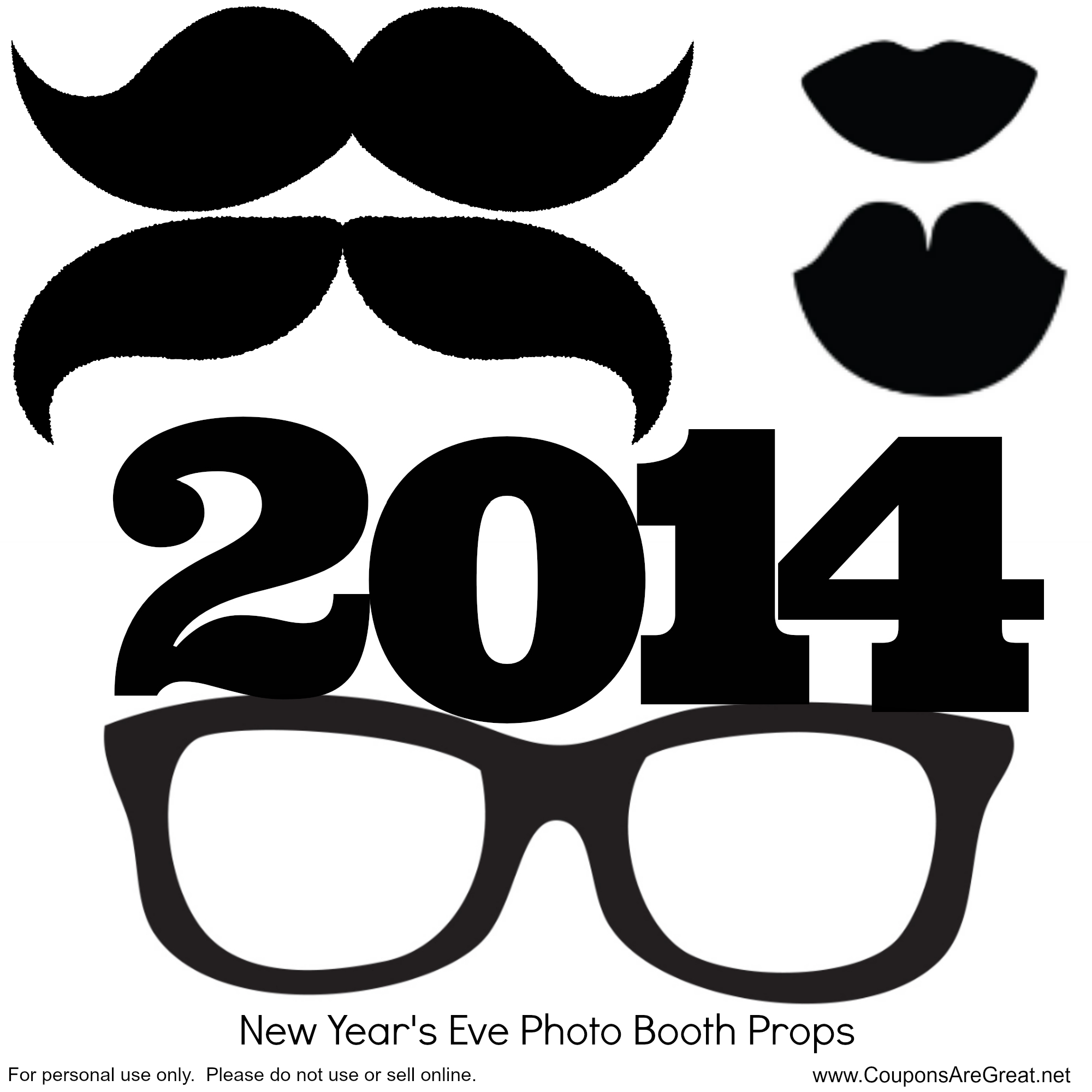 ... : Make your own New Years Eve Photo Booth Props with Free Printable