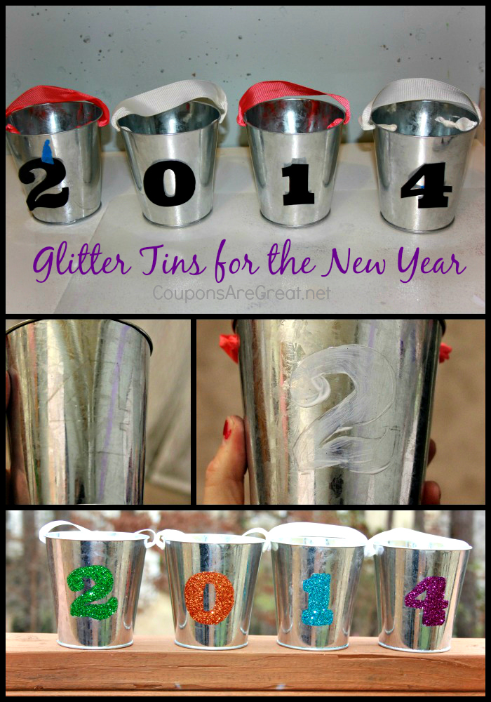 New Years Eve Glitter Tins Craft Coupons Are Great