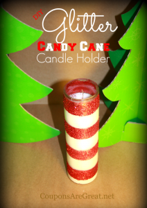 candy cane candle holder craft