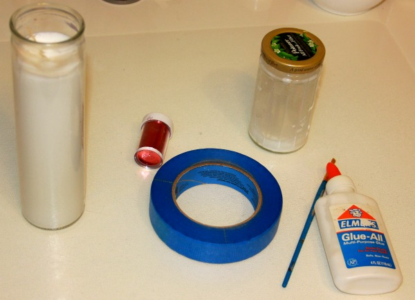 candy cane candle materials