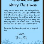 merry christmas elf left letter