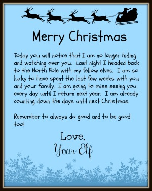 image regarding Printable Elf on the Shelf Goodbye Letter known as The Elf upon The Shelf Leaves Guiding a Fantastic Bye Letter upon