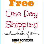 Free One Day Shipping on Hundreds of Items at Amazon