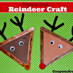 Christmas Crafts for Kids: Popsicle Stick Reindeer Craft