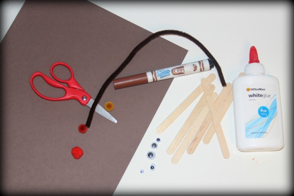 popsicle stick reindeer craft materials