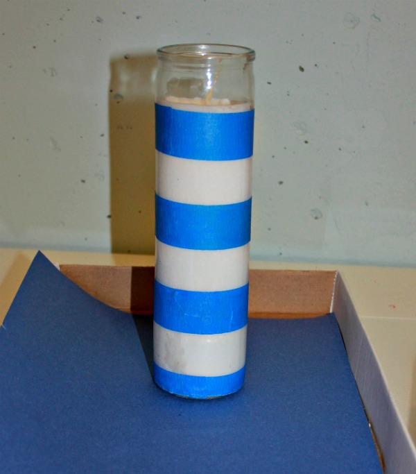 taped candle stripes