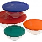 Pyrex Smart Essentials 8-Piece Mixing Bowl Set with Colored Lids for $10.99 (originally $25.99) at Amazon