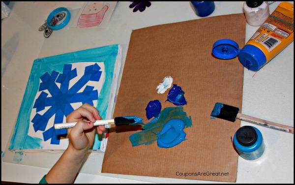 snowflake painting 1