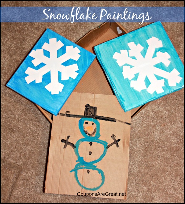 Winter Craft Project: Snowflake Paintings for Kids