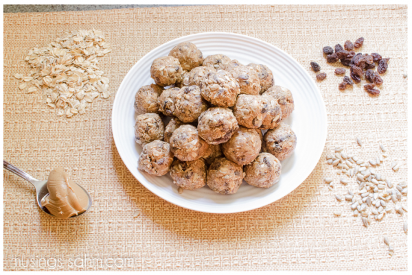 5 minute peanut butter snack balls