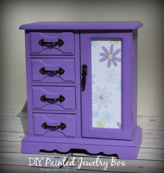 thrift store jewelry box makeover how to make a painted