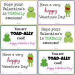 Frog Valentine Cards: DIY Printable Valentine Cards