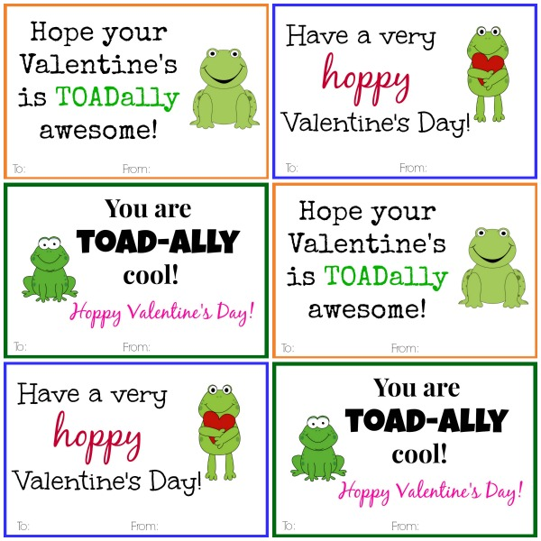 Does it get cuter than these frog Valentine's that you can print and use this year? I don't think so!