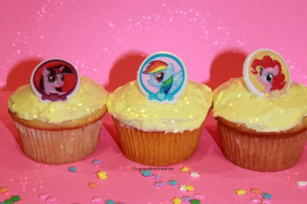 homemade my little pony cupcakes