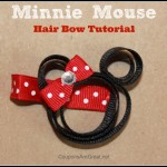 Minnie Mouse Hair Bow Tutorial
