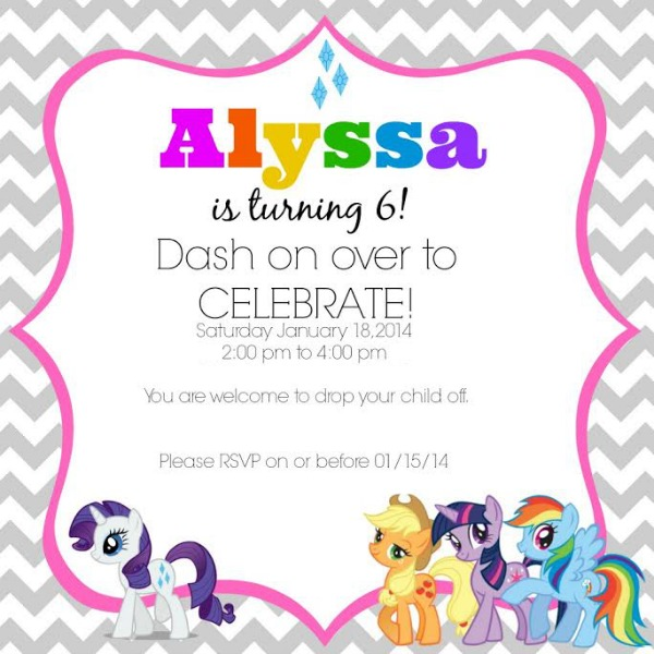 my little pony birthday party ideas, Party invitations